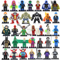 2017 DC Marvel Super Heroes Figure 34pcs/lot Avengers Superman Batman Deadpool Lepin Mini Building Blocks Bricks Set Model Toys