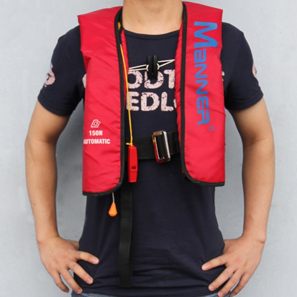 AOTU Pullover Life Jacket Manual Automatic Inflatable Water Sports Adults Sportsman Life Saving For Boating Surfing Water Sport 3 1 2m inflatable seesaw for water sports