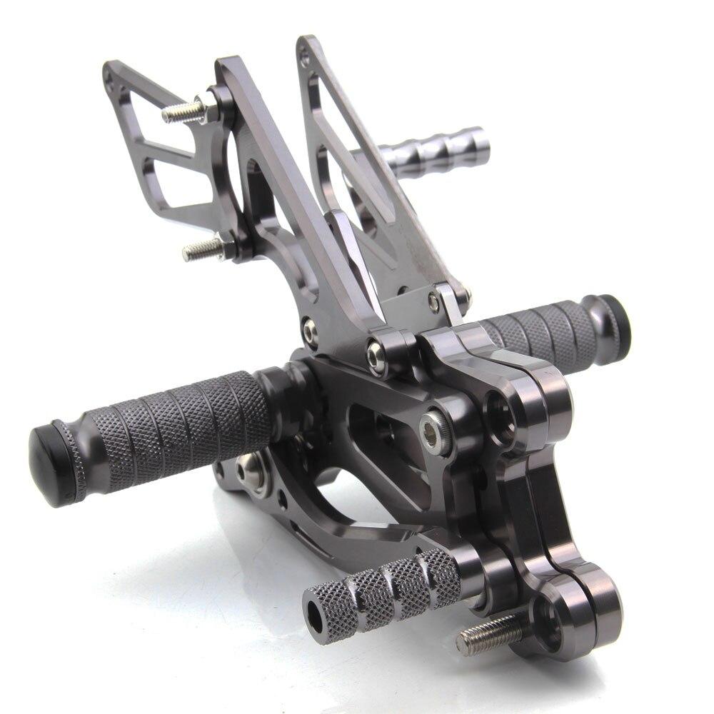 Titanium CNC Aluminum Adjustable Rearsets Foot Pegs For Honda CBR 600RR CBR600RR ABS 2009 2010 2011 2012 2013 2014 2015