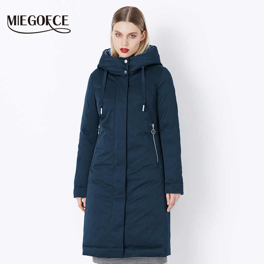 MIEGOFCE 2019 Winter Women's Collection New Stylish Fashion Coat Winter With Bio Fluff Collection Spacious Warm Women's Coat