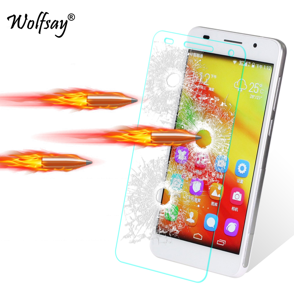 2pcs Glass Huawei Honor 6 Screen Protector Tempered Glass For Huawei Honor 6 Glass Honor 6 Honor6 Thin Protective Film Wolfsay
