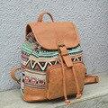 Винтажный женский рюкзак  большие школьные сумки для девочек-подростков  кожаный женский рюкзак  холщовая дорожная сумка XA102H