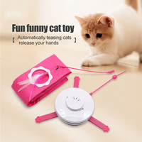 Cats Toy 360 Degree Automatic Feather Interaction Toys Kitten Exercise Discs Toy 2019ing
