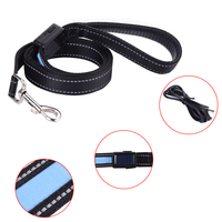 Multi Choice Special Design Solar Environmental And Green USB Reflective Pet Traction Rope Dog Lead Leash