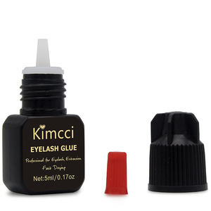 Image 3 - Kimcci 5ml False Eyelash Extension Glue 1 3 Seconds Fast Drying Eyelashes Glue Pro Lash Glue Black Adhesive Retention Long Last