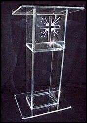 Blat akrylowy Podium ambona przenośny Pulpit jasne konferencji szkoły Podium