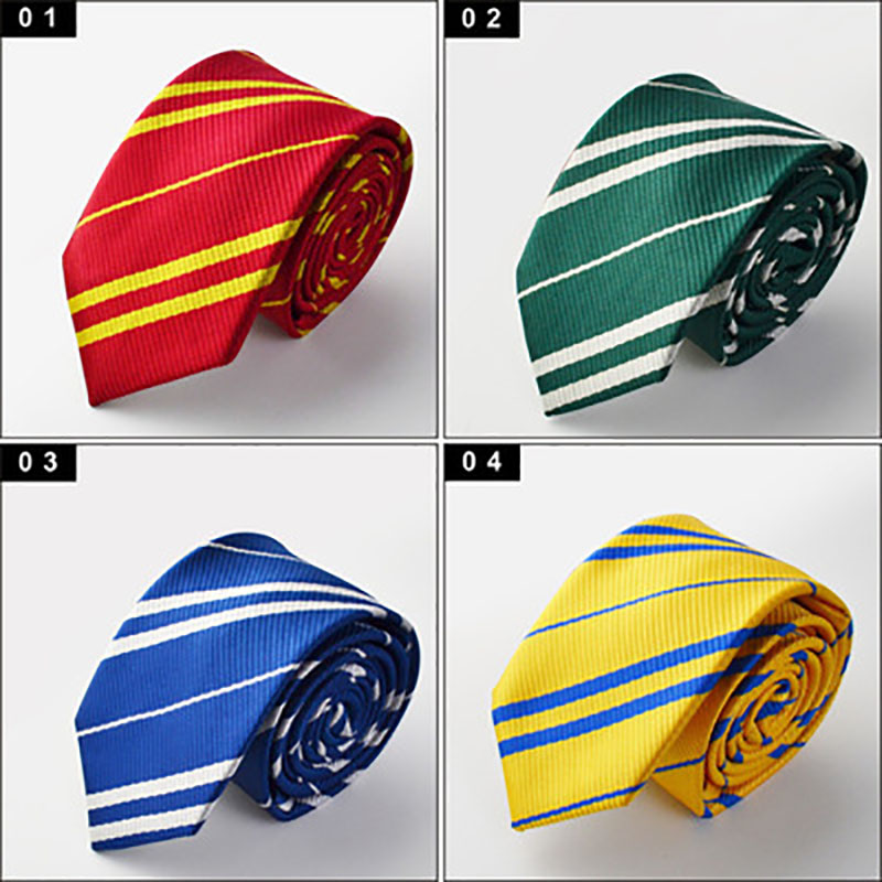 New Harry Potter Cosplay Accessory Tie Gryffindor Slytherin Harry Potter Necktie College Style Tie Gifts Costume Supplies Unisex