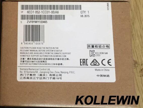 6ED1052-1CC01-0BA6 Simatic New Original LOGO! 24C LOGIC MODULE 8DI (4AI)/4DO 6ED1 052-1CC01-0BA6 6ED10521CC010BA6 freeship