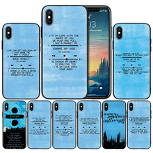 Ed Sheeran Songs Lyrics Gambar DIY Soft Anti-Knock Silicone Case Cover For iPhone X XS XR X 11 11Pro max 7 8 6 6S 5 5S 5 5C Se PLUS(China)