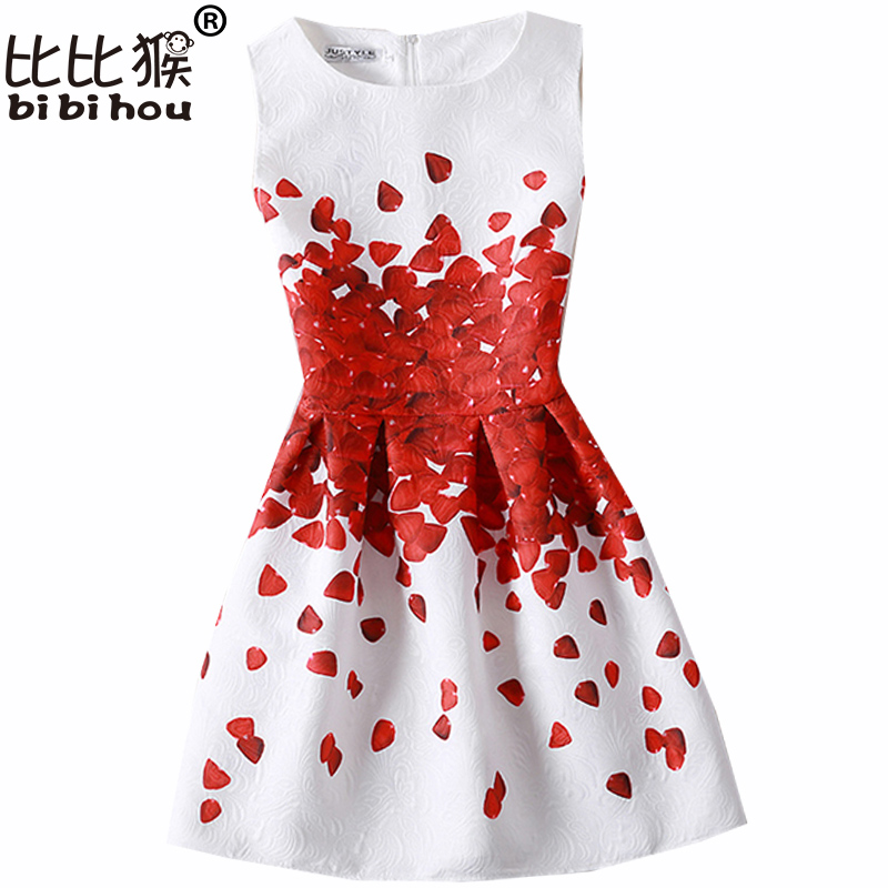 bibihou Girl Dress for girl 12 years 2017 Summer fashion Sleeveless Space Astronauts Girl Princess Dresses Party Girl Clothes astronauts level 1