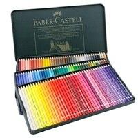 Faber Castell водорастворимые Карандаши 120 цветов с зеленым железным набором