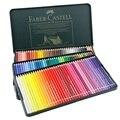 Faber-Castell wateroplosbare 120 kleuren potloden met groene ijzeren box set