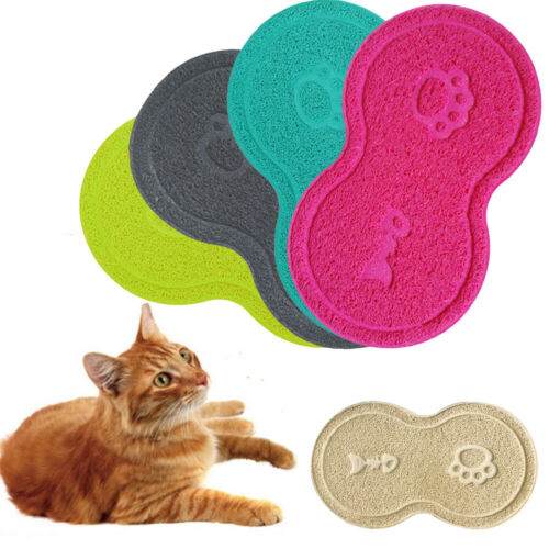 2019 New Pet Dog Cat Litter Mat Feeding Puppy Kitty Dish Bowl Placemat Tray Tidy Easy Cleaning Sleeping Pad Claw Hot