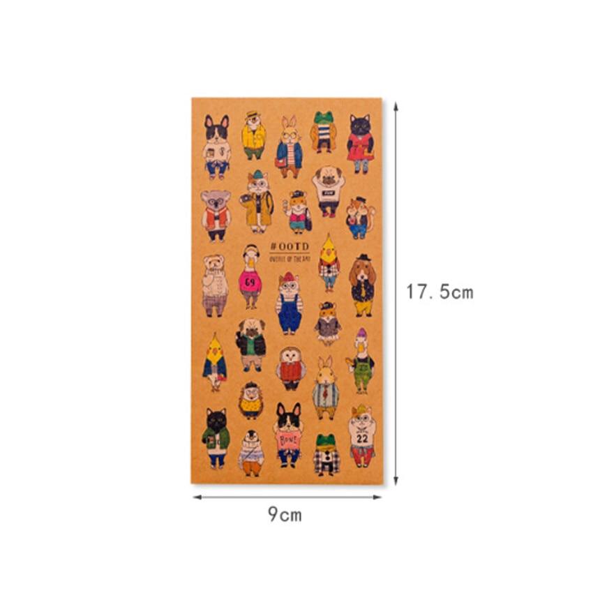 Купить с кэшбэком 1pack/lot Japanese Style Kawaii Cartoon Cats Adhesive Kraft Paper Stickers Mobile Phone Decorative Children DIY Dairy Sticker