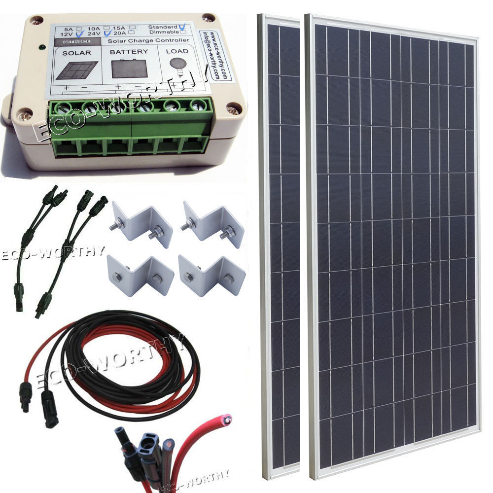 200W Off Grid System:2x100W Solar Panel for 12V Camping Car Home Battery Charger complete kit 200w solar panel cells off grid system 200w solar system for home