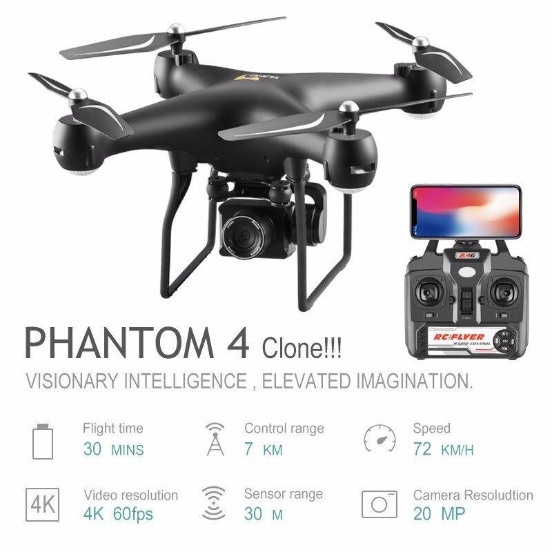 Meilleur 4 K HD caméra RC Drone quadrirotor avec caméra 25 Minutes de temps de vol Hlicopter avec maintien d'altitude têtes Mode enfants jouets