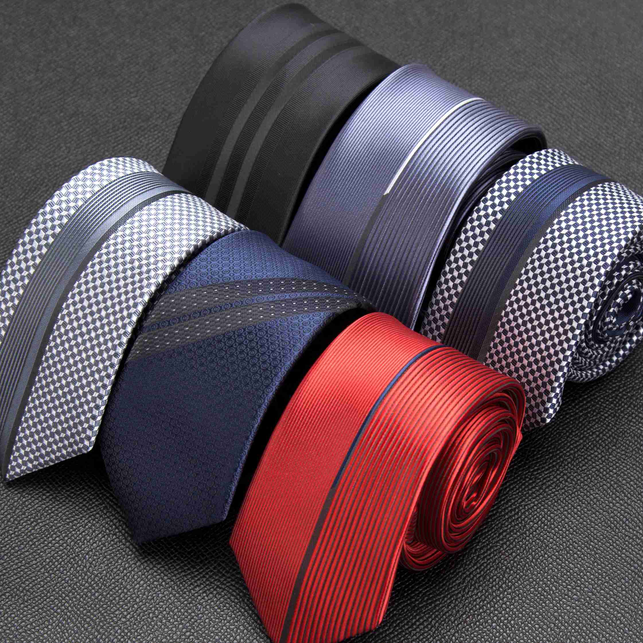 Men Tie Classic Luxurious Slim Stripe Ties For Mens Business Wedding Jacquard Necktie Male Dress Shirt Bowtie Gift Accessories