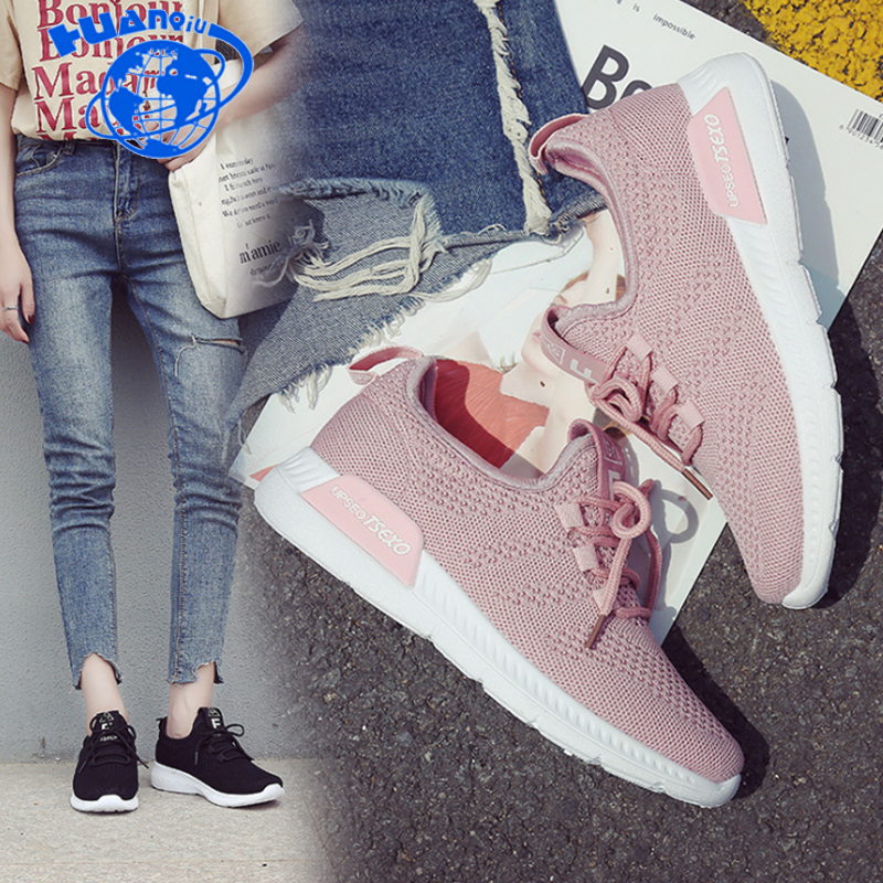 e31c49ee2 Detail Feedback Questions about Fast delivery Women casual shoes fashion  breathable Walking mesh lace up flat shoes sneakers women 2018 tenis  feminino ...