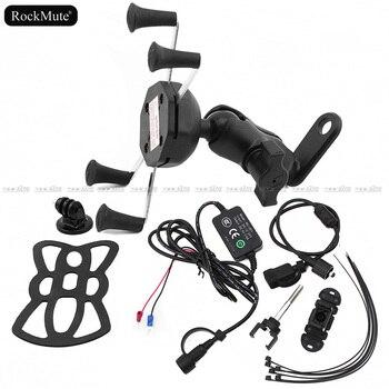 Cámara del deporte Cámara/GPS/soporte para teléfono móvil para Yamaha YZF R25 R3 MT-10 MT-09 MT-07 rastreador FJ09 para GoPro cámara de soporte de montaje/cargador USB