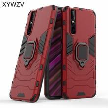 Vivo V15 Pro funda a prueba de golpes funda dura PC armadura Metal dedo anillo soporte teléfono funda para Vivo V15 Pro cubierta para Vivo V15 Pro