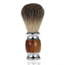 Pro из Натурального Волоса барсука Мужская щетка для бритья с ручкой из смолы Парикмахерская для мужчин удаление бороды для лица