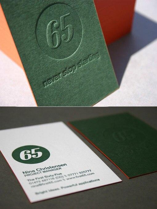 2016 New Design LOGO Grav Carte De Visite Rouge Bord Couleur 600gsm Carton Pantone Impression Double C