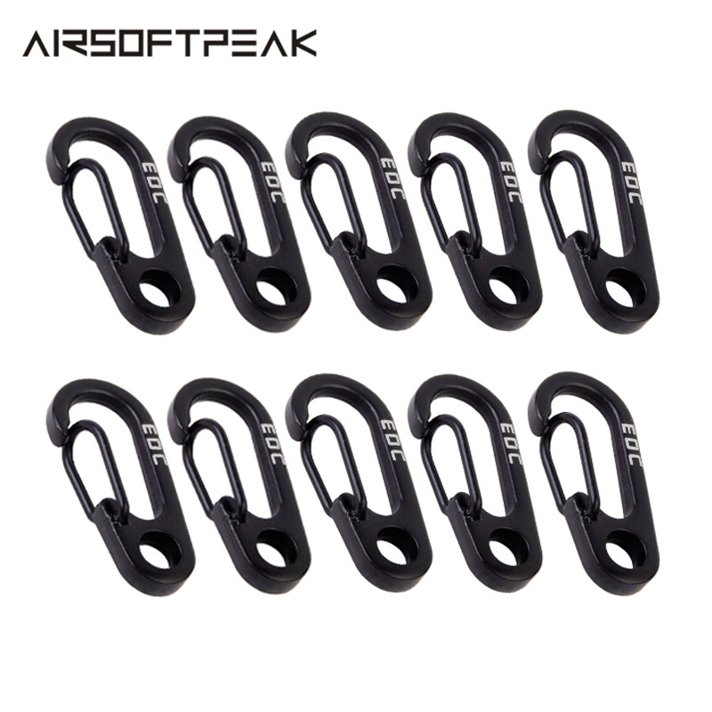 10Pcs KeyChain Stainless Steel Quick Release Key Ring Mini EDC Carabiner Multi Tool Outdoor Running Traveling Hiking Accessory