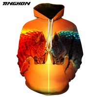 TINGHON Fashion Leopard Anima Printed Hoodies Men Women 3D Sweatshirts Novelty Pullover Casual Tracksuits Harajuku Outwear
