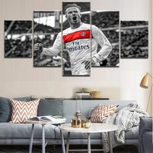 Top-Rated Canvas Printing Framework Modern Type Soccer Player Character Painting Wall Art For Decorative Bedroom Living Room