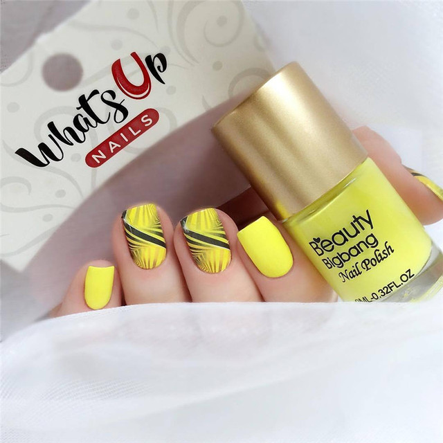 BeautyBigBang-vernis à ongles jaune, laque pour Nail Art, impression permanente, rouge, 9ml