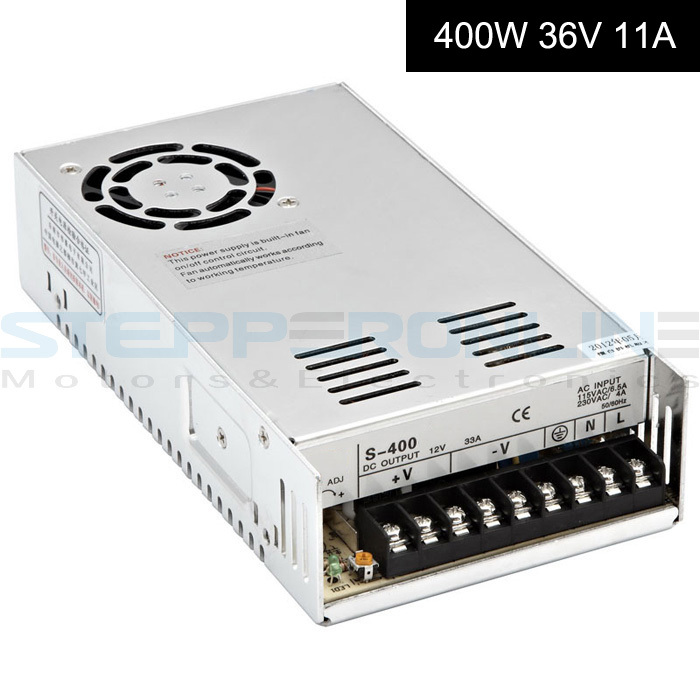 Switching Power Supply 36V 400W 11A for CNC Router Kits 115V/230V digital power supply dc48v 500w 10 4a switching power supply 115v 230v to stepper motor diy cnc router