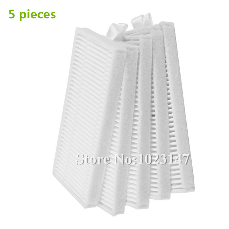 5 pieces/lot robotic HEPA Filter for Bleamn B-Q85 Q85 Robot Vacuum Cleaner Parts Accessory 6v 2000mah rechargeable battery for karcher robotic rc3000 2 891 029 0 vacuum robot robotic cleaner accessories parts