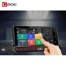 G-perro Nuevo 3G grabador de Vídeo DVR retrovisor Android 5.0 GPS Bluetooth FM WIFI Videocámara Dash cam dvr de Doble Lente de espejo retrovisor