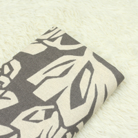 1 Meter Export Canvas Coarse Pure Cotton Fabric Grey Bottom With Big Floral Print Handbag Sofa