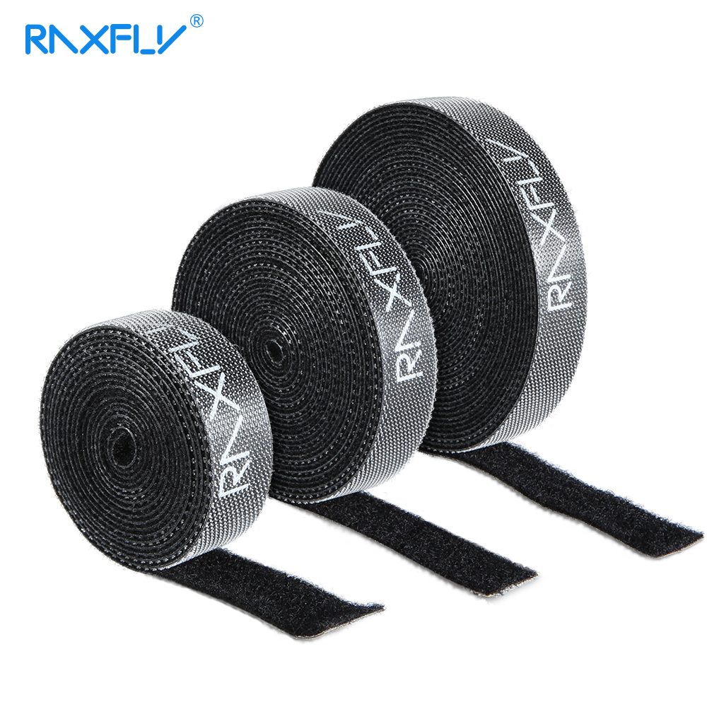 RAXFLY Cable Organizer Wire Winder Clip Cable Holder Mouse Cord Protector 1/3/5M Cable Management For iPhone Samsung USB Cable ugreen cable holder organizer 25mm diameter flexible spiral tube cable organizer wire management cord protector cable winder