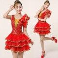 2015 новые современные танцевальные костюмы блестками открытие танцевальные костюмы дамы квадратные танцоры танцуют костюм