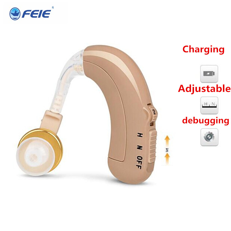 Clear Sound Hearing Aid USB Rechargeable Listeing Device Wireless Earphone Mini BTE hearing Aids C-109 Hot Sale 2018 freeship rechargeable hearing aid bte hearing aids for the elderly deaf old ear hearing device better value than siemens hearing aid