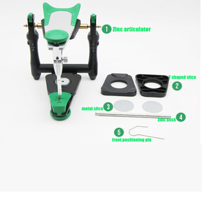 Image 4 - 1 set Dental lab functional zinc alloy articulator  model bite articulator fiting face bow for stone model work
