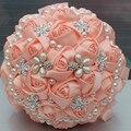 100% настоящее аватар Бестселлеры Красивая Бисероплетение Люкс Для Невесты Цветок свадебный букет искусственный цветок розы букет
