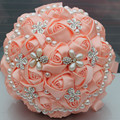 100% real picture Best Sellers Beautiful Beading Bridal Bridesmaid Flower wedding bouquet artificial flower rose bouquet