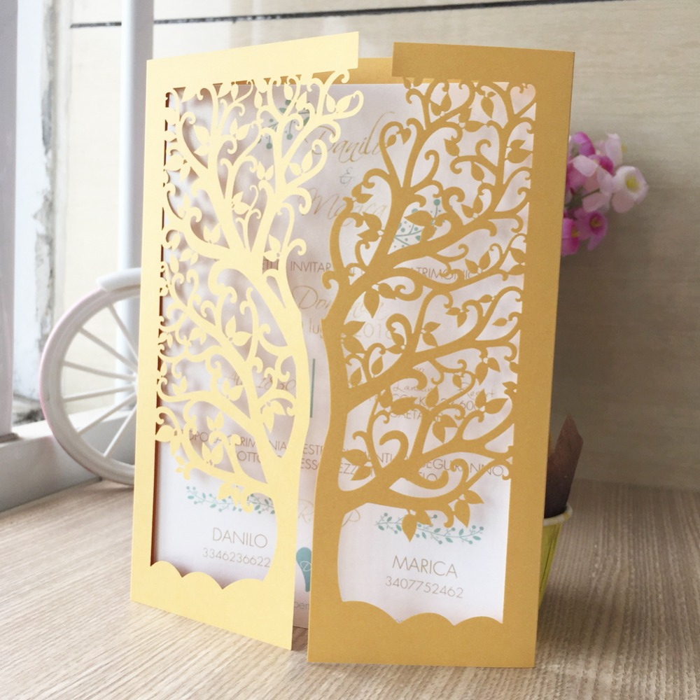 12psc/lot laser cut big love tree design romantic delicate carving ...