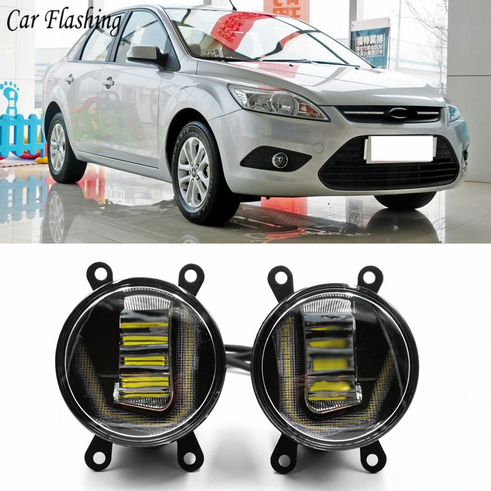 2Pcs Fog Lamp Assembly Fog Light For Ford Focus 2 3 Fusion Fiesta Tourneo Transit 2001