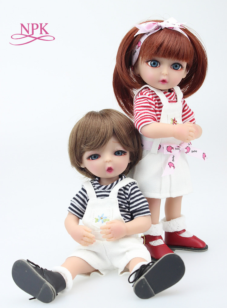25CM mini Sweet Girl Doll Reborn Baby Dolls Full Handmade Full Vinyl Baby Toys Best Girls Gift DIY Bjd Doll girl
