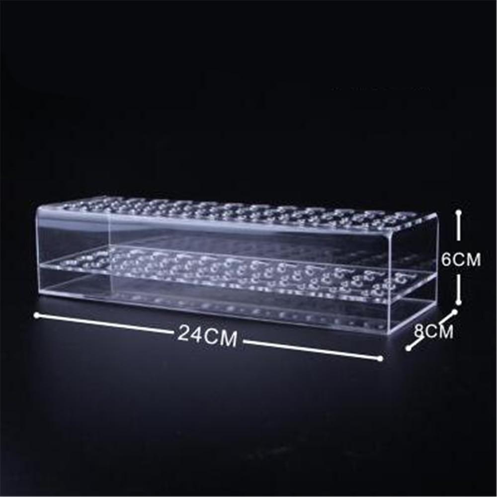 Acrylic Marker Pens Display Rack Holder Eyebrow Pencil Desk Organiser 48 Slot Box