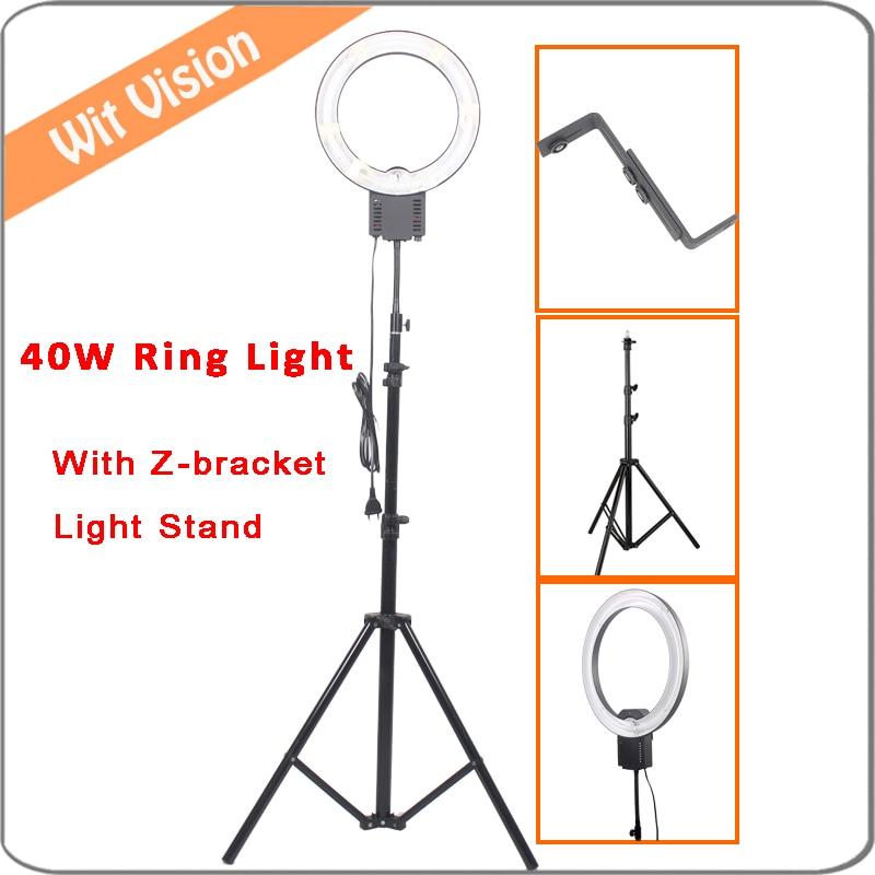 40W Daylight Fluorescent Ring Light Kit for Portrait Photo Lighting Eye Light 200cm Stand Z Type