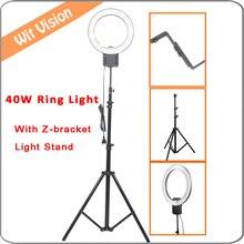 40W Daylight Fluorescent Ring Light Kit for Portrait Photo Lighting Eye Light+200cm Stand+Z Type Bracket for DSLR and Smartphone