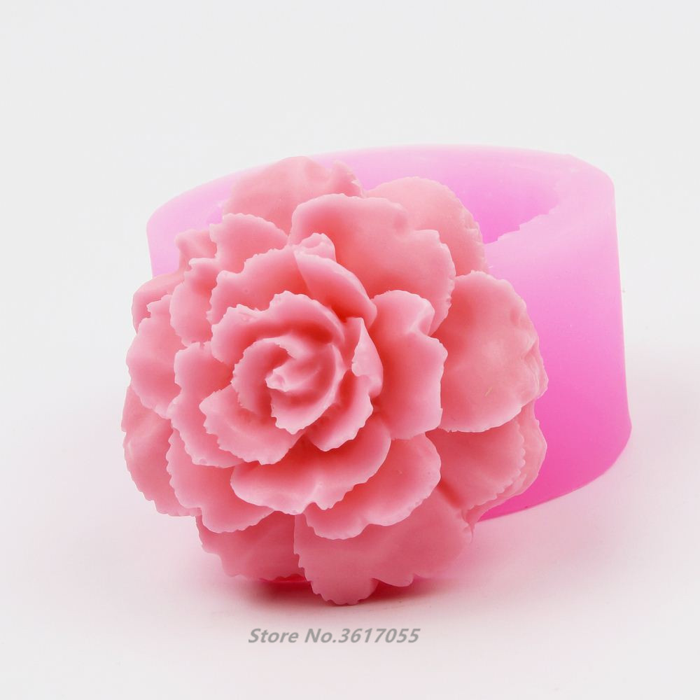 Silica Gel Mold Chocolate Cake Decoration Diy Soap Making Mold 3D Flower Shape Cake Decorative Mould 3D Candle Mould