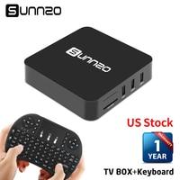 SUNNZO Android 6 0 1 TV Box 1 8GB RK3229 4K Wifi Fully Installed Kodi Streaming