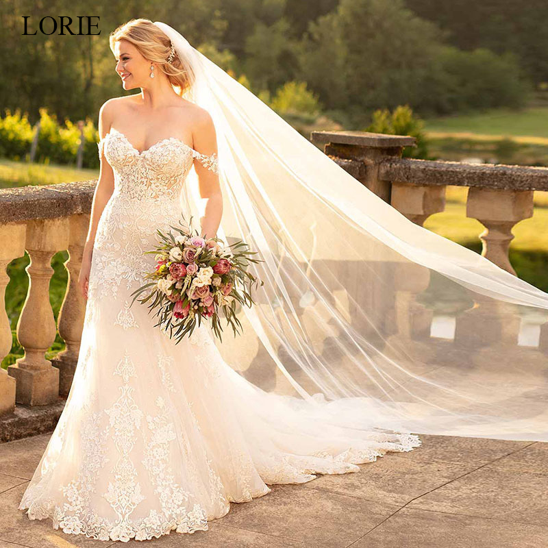 Lorie Wedding Dress Sweetheart Off The Shoulder Appliques