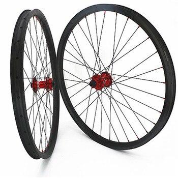 27,5 er углеродный диск mtb wheelset 30x30 мм бескамерные mtb велосипедные Углеродные Диски 650b hope 4 boost 110x15 148x12 Углеродные колеса